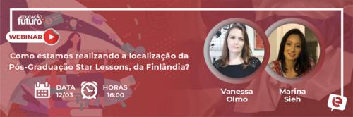 Como estamos realizando a localização da Pós-Graduação Star Lessons, da Finlândia? amanhã em nossa LIVE!